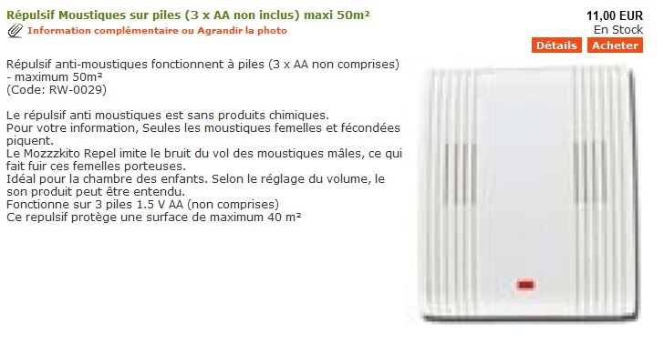 les produits anti moustique de chez le blog des r pulsifs anti rongeurs et anti. Black Bedroom Furniture Sets. Home Design Ideas